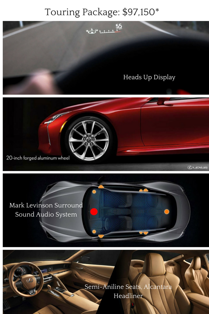 2018 lexus heads up display. interesting 2018 2018 lexus lc 500 touring package option with lexus heads up display