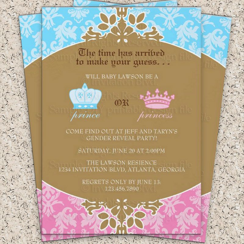 Prince or Princess Royal Gender Reveal Party. | Baby Shower ~ Gender ...