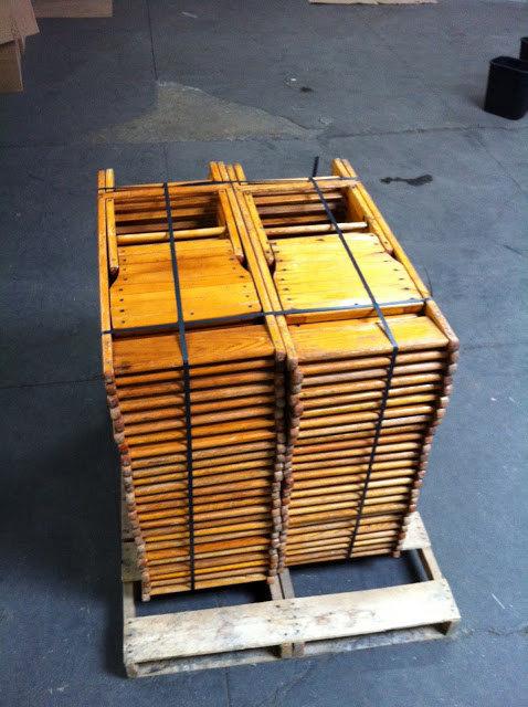 Lot Of 50 Light Wood Folding Chairs By Krausfarm On Etsy 1750 00
