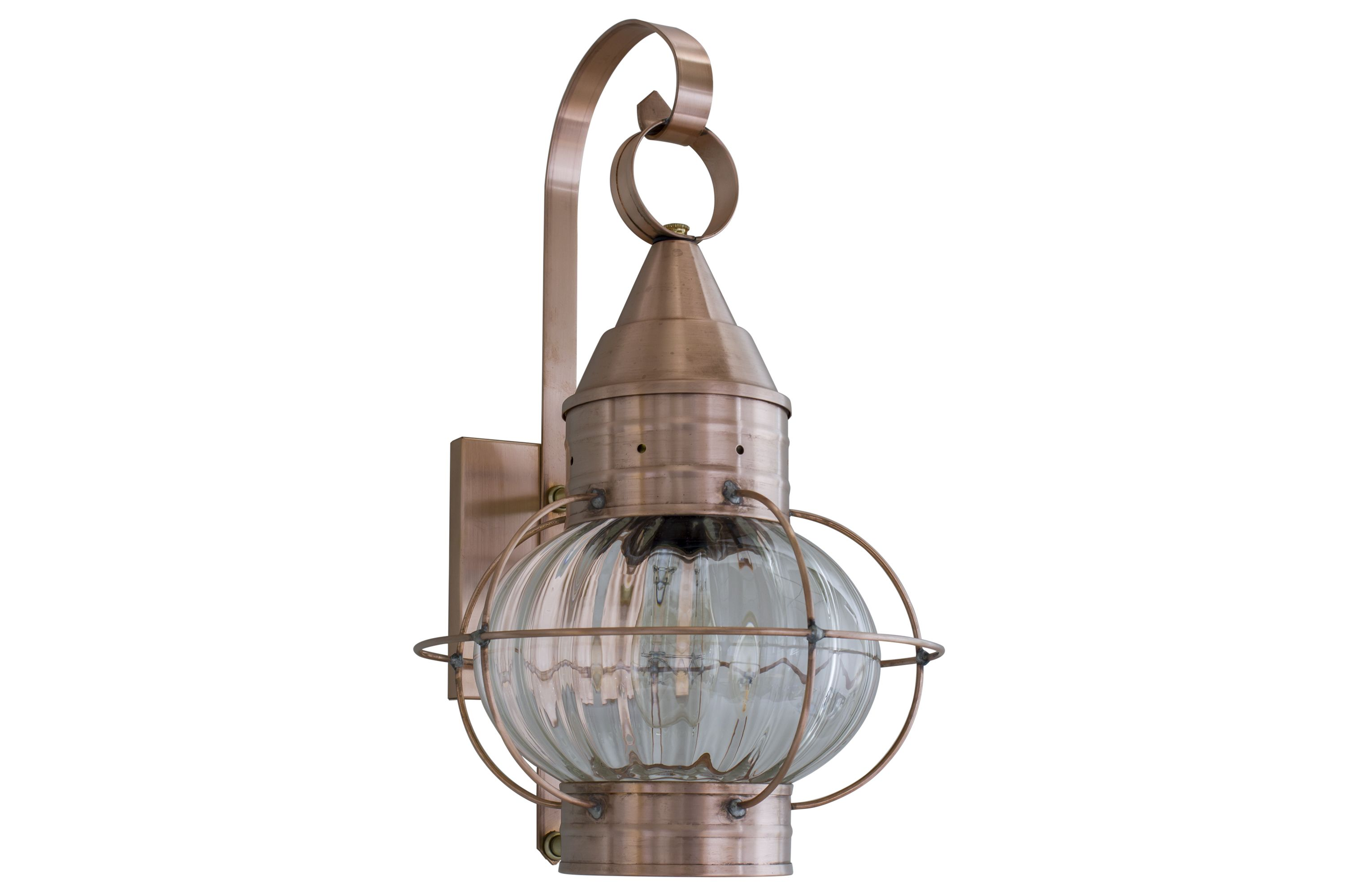 Brass Traditions 621 Onion Style Wall Lantern With Optic Globe Outdoor  Light Fixtures, Outdoor Lighting
