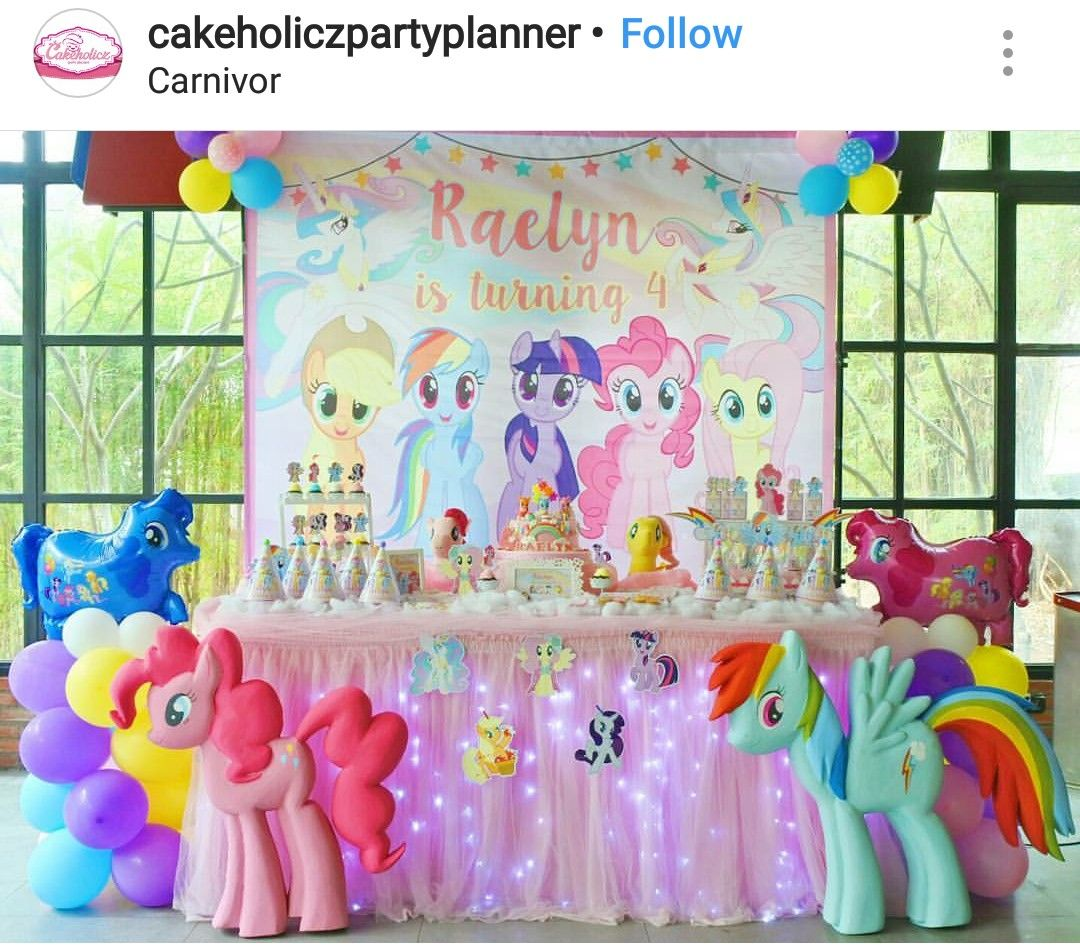 My Little Pony Birthday Party Dessert Table And Decor Pony
