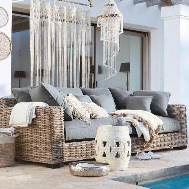 Landhaus Landhauslook Landhausstil Rattan M Bel Home Accessoires Sofa Couch Outdoor Decorations For Bed In 2020 Rattan Sofa Rattan Garden Corner Sofa Home