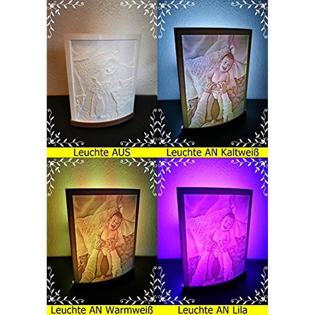 Personalisierte Tischleuchte Freestanding Multicolor Lithophanie Lampe Leuchte 3d Druck Led Licht Gesche In 2020 Led Licht Geschenkideen Valentinstag Tischleuchte