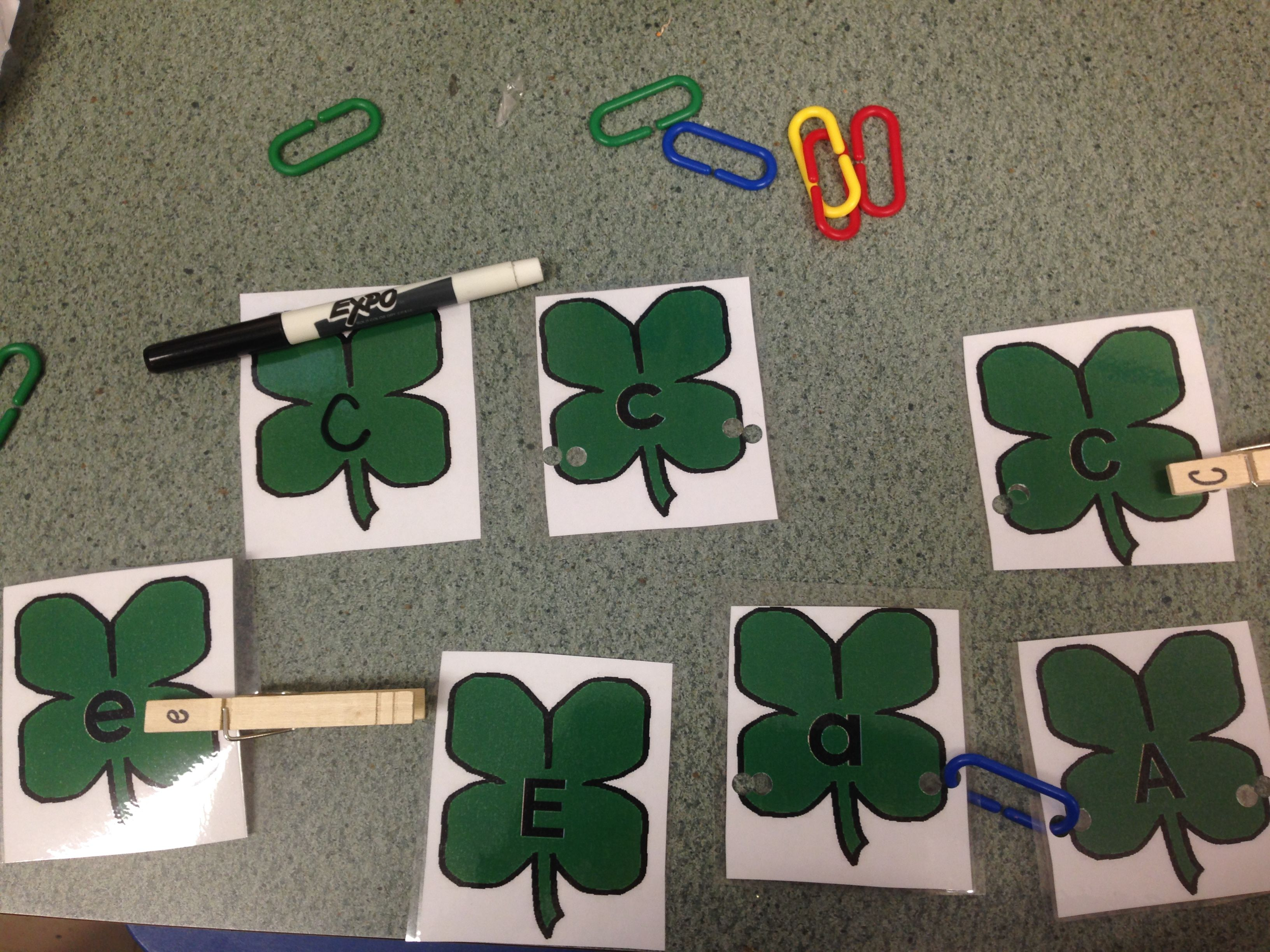 Shamrock Letter Matching Activity For Preschool And