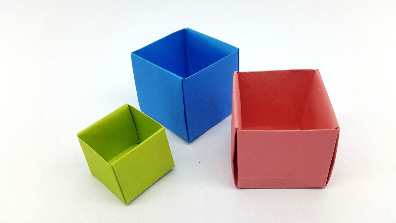 Origami Bowl Easy How To Make A Paper Box Origami Easy Origami Box ... | 720x1280