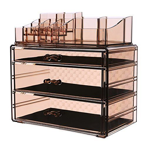 SONGMICS Makeup Organizer Cosmetic Storage Display Boxes Jewelry