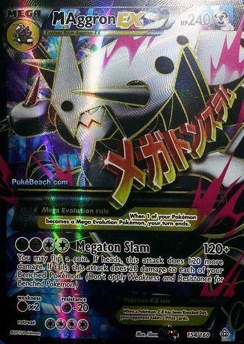 M Aggron Ex 154 160 Full Art Mega Xy Primal Clash Preorder Ships 2 6 Cool Pokemon Cards Rare Pokemon Cards Pokemon Cards