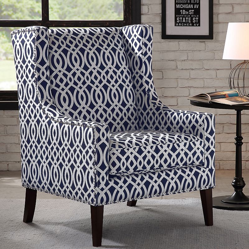 Madison Park Barton Accent Chair Products Blue Accent Chairs