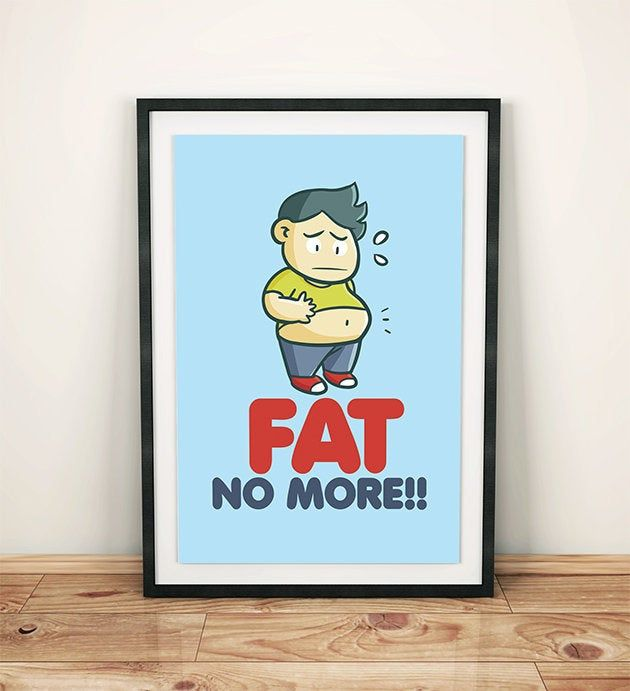 Gym Wall Art,Digital Print,Printable Wall Art,Motivational Prints,Fitness Wall Art,Wall Decor,Cartoon Art,Kawaii print – INSTANT DOWNLOAD