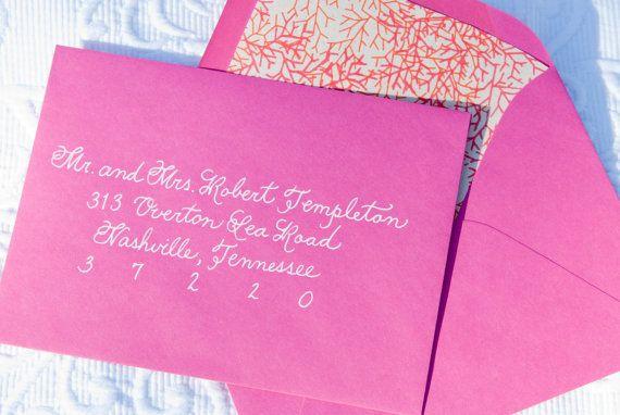 Handwritten Wedding Invitation Envelopes: Wedding Calligraphy Envelope Addressing