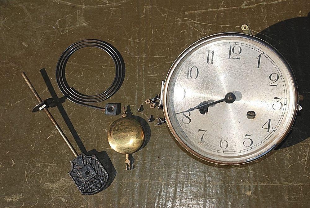 FOREIGN F P Germany Clock Movement Gear Box Parts Pendulum Kienzle