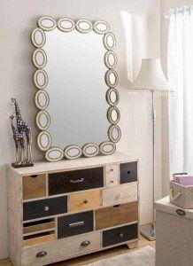 Espejo Con Formas Ovaladas Espejo De Cristal Espejo Original - Espejo-original