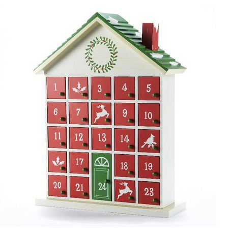 Wooden House Advent Calendar 50 From Sears