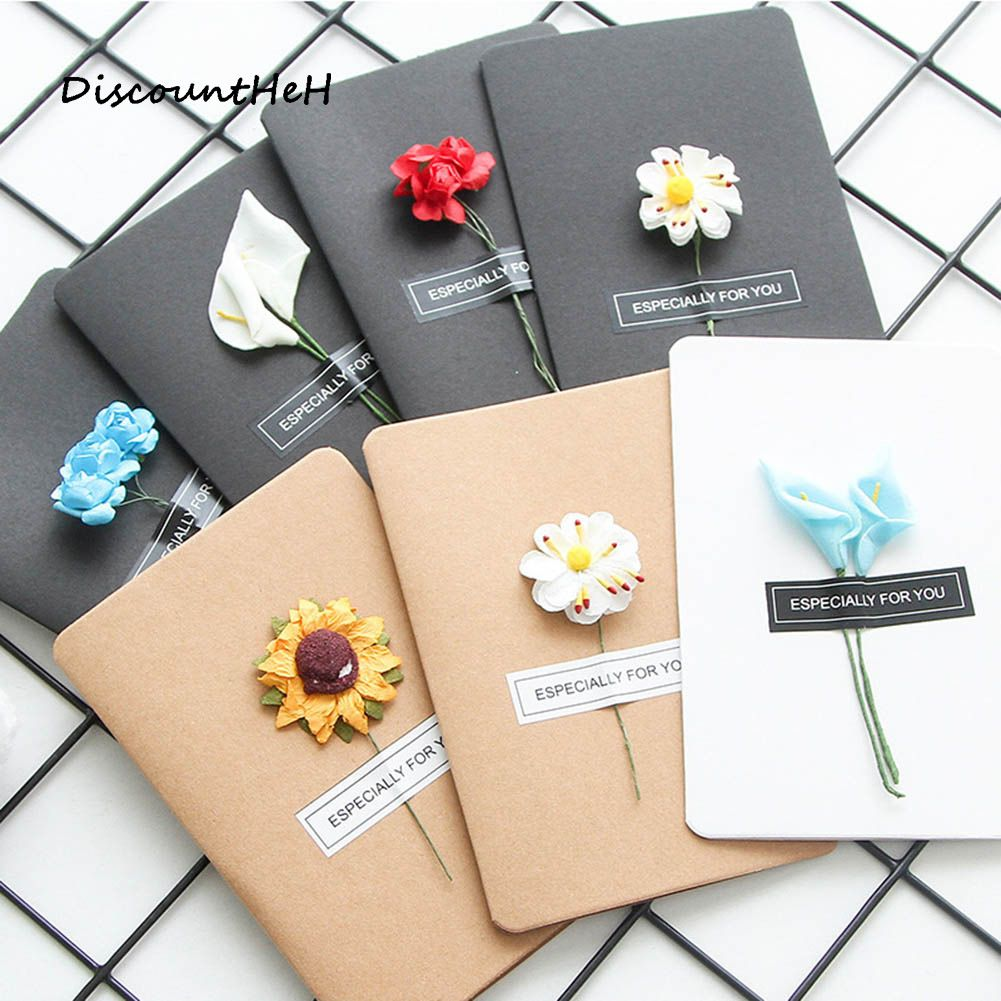 Photo of DIY retro handmade paper universal Dried Flower Greeting …