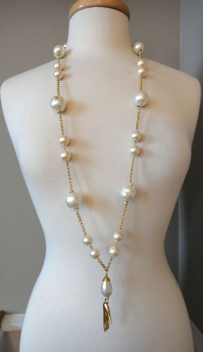 collier perle style chanel