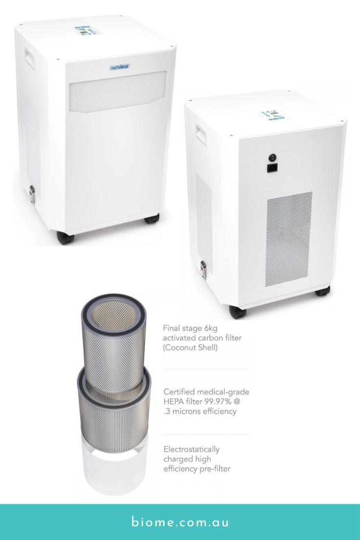 InovaAir AirClean DE20 Plus HEPA Air Purifier Biome Eco