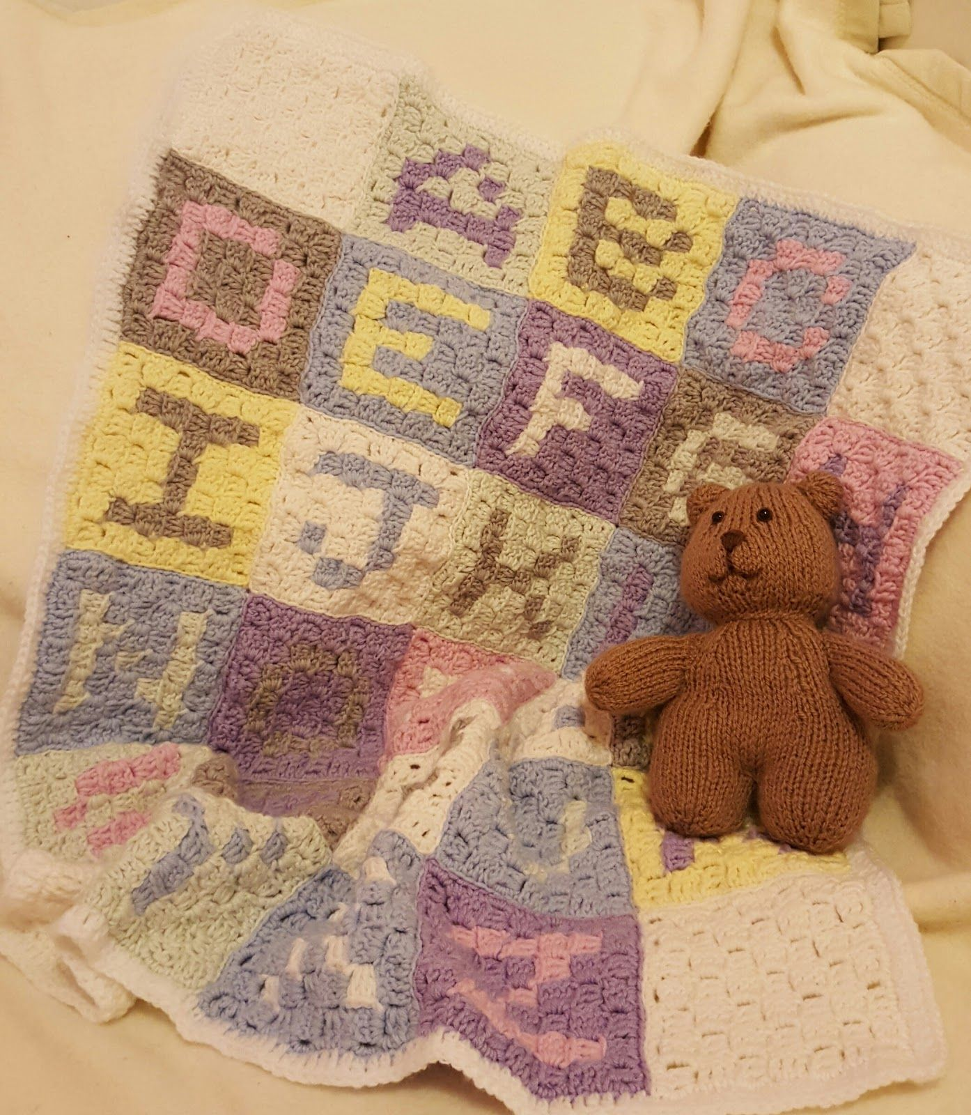 Based in cheshire kim jackson is the knitting and crochet owl in stitches alphabet baby blanket free crochet pattern stitch pattern bankloansurffo Image collections