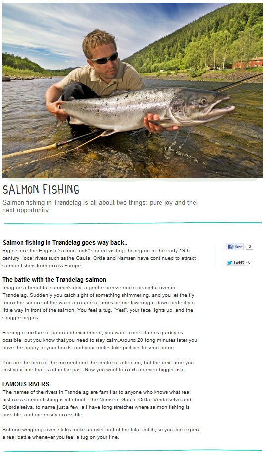salmon fishing in trondelag is all about two things pure joy and the next opportunity pinned from http www trondelag com en salmon fishing pinterest