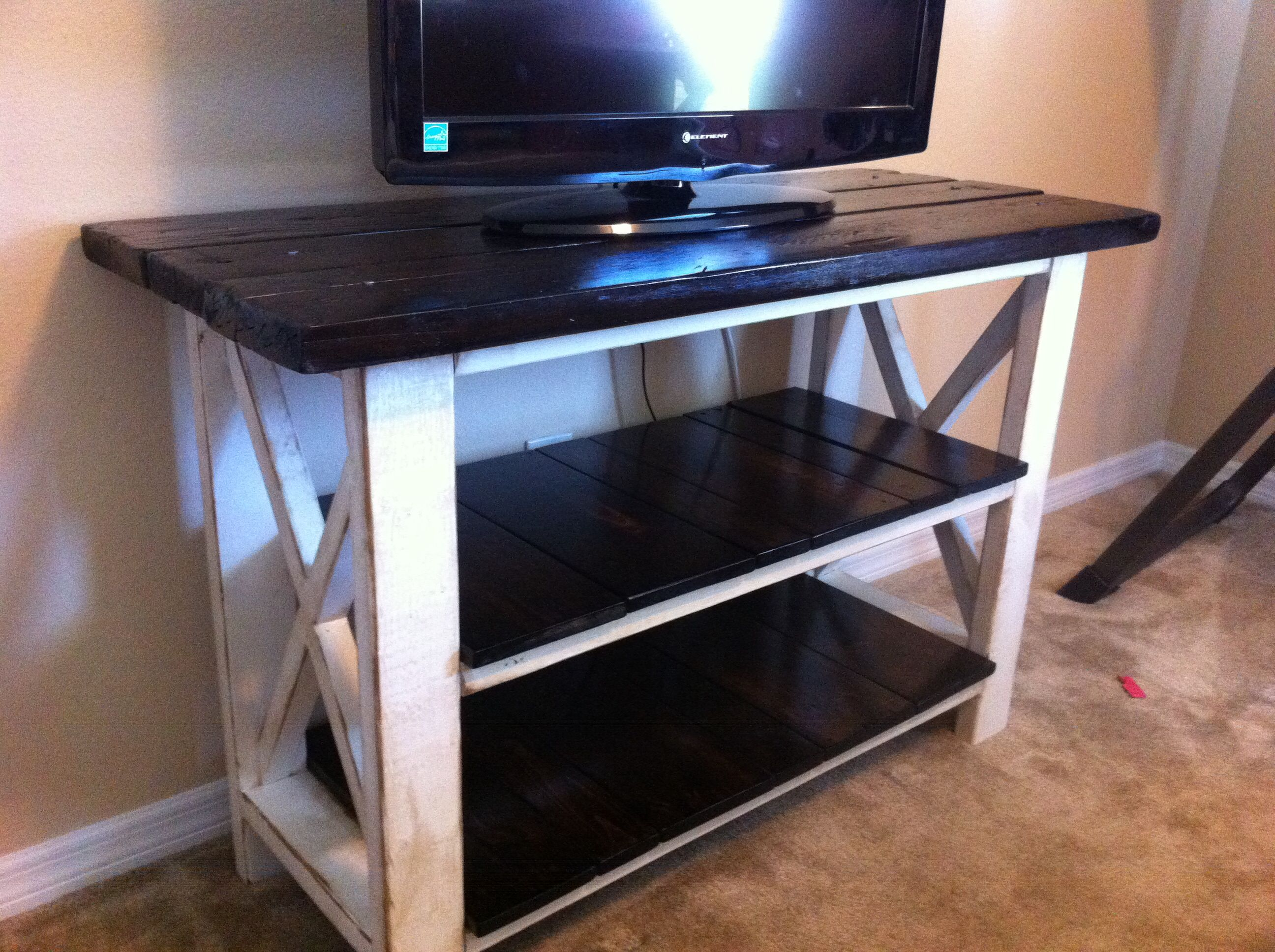X console table built from ana whites plans with some modification
