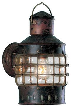 Weems Plath Copper Wall Anchor Lantern Beach Style Outdoor Lights And Sconces