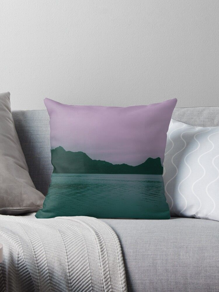Seascape At Dusk Ha Long Bay Vietnam Landscape Photography Millions Of Unique Designs By Independent Artists Throw Pillows Pillows Designer Throw Pillows