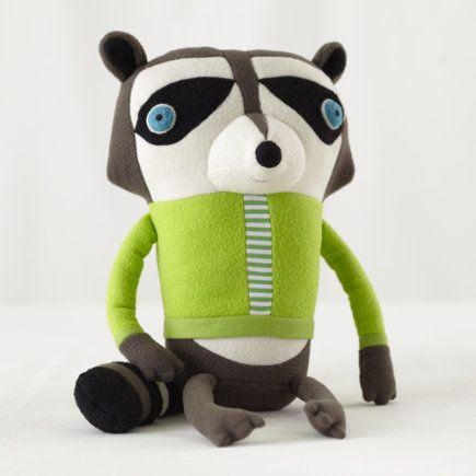 Kids Stuffed Animals: Jennifer Strunge Monster Raccoon - Raccoon Dad Cotton Monster