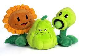 Plants Vs Zombies Sunflower Squash And Peashooter Stuffed Animals Plants Vs Zombies Zombie Dolls Party Toys