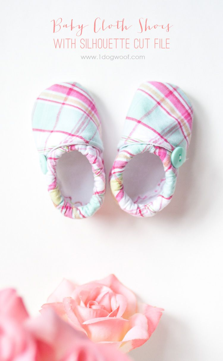 Baby Cloth Shoes Pattern with Silhouette Cut File | Nähen für kinder ...