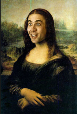 Nicolas Cage You Funny Man 3 Mona Lisa Mona Lisa Parody Nicolas Cage