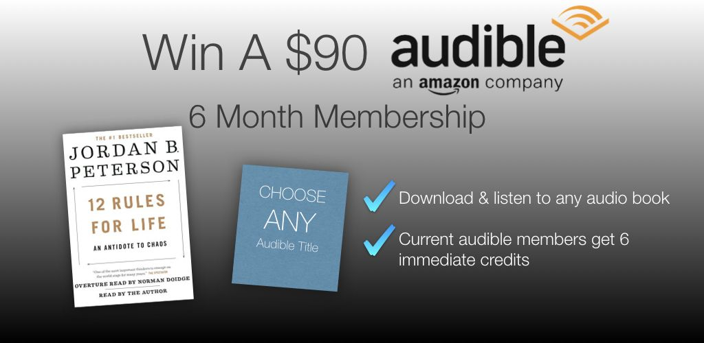 Win A 6 Month Membership From Audible You Ll Be Able To Download Listen To Any Audiobook That Audible By Amazon Has In T Book Giveaways Audio Books Giveaway