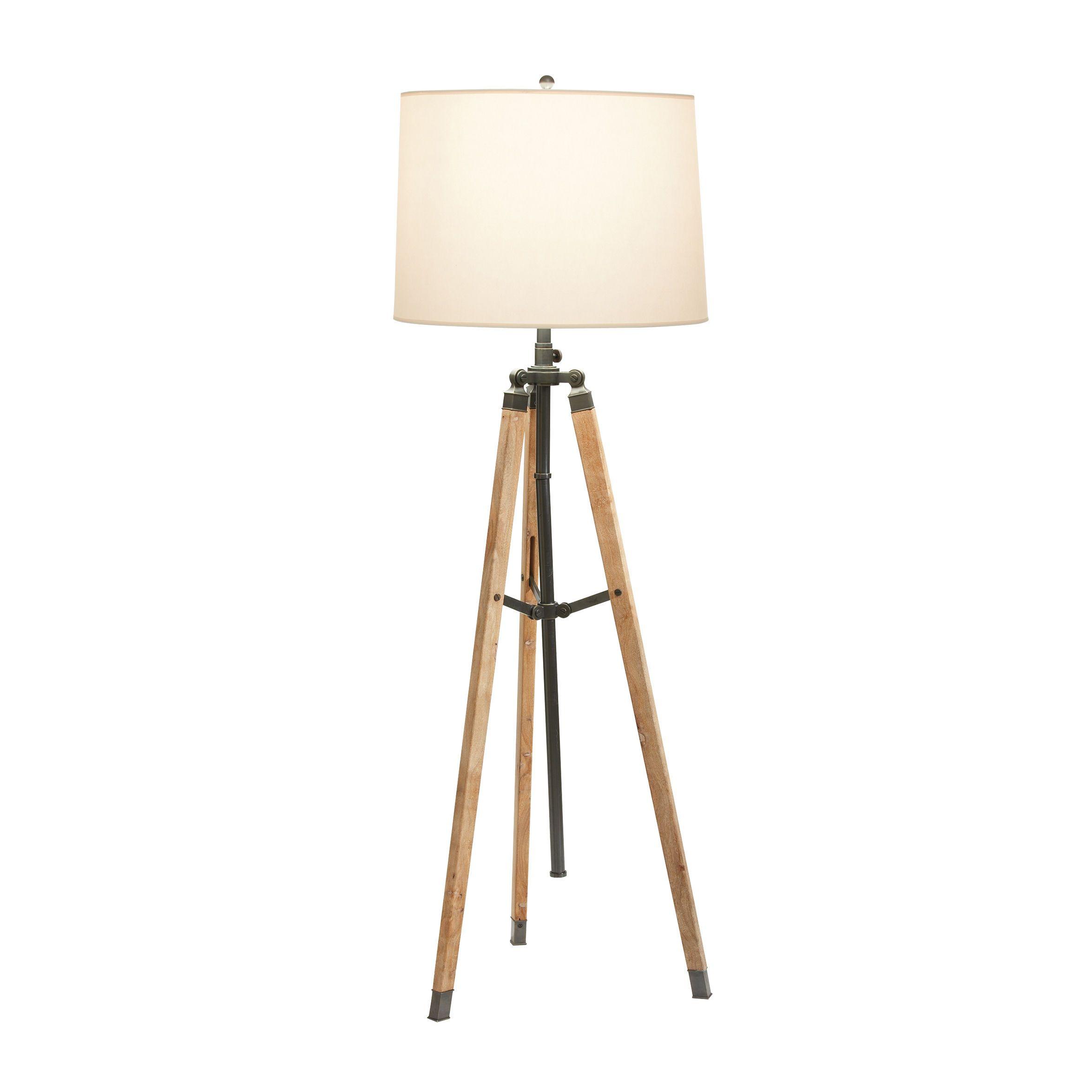 Surveyor's Bronze Floor Lamp Ethan Allen US Bronze