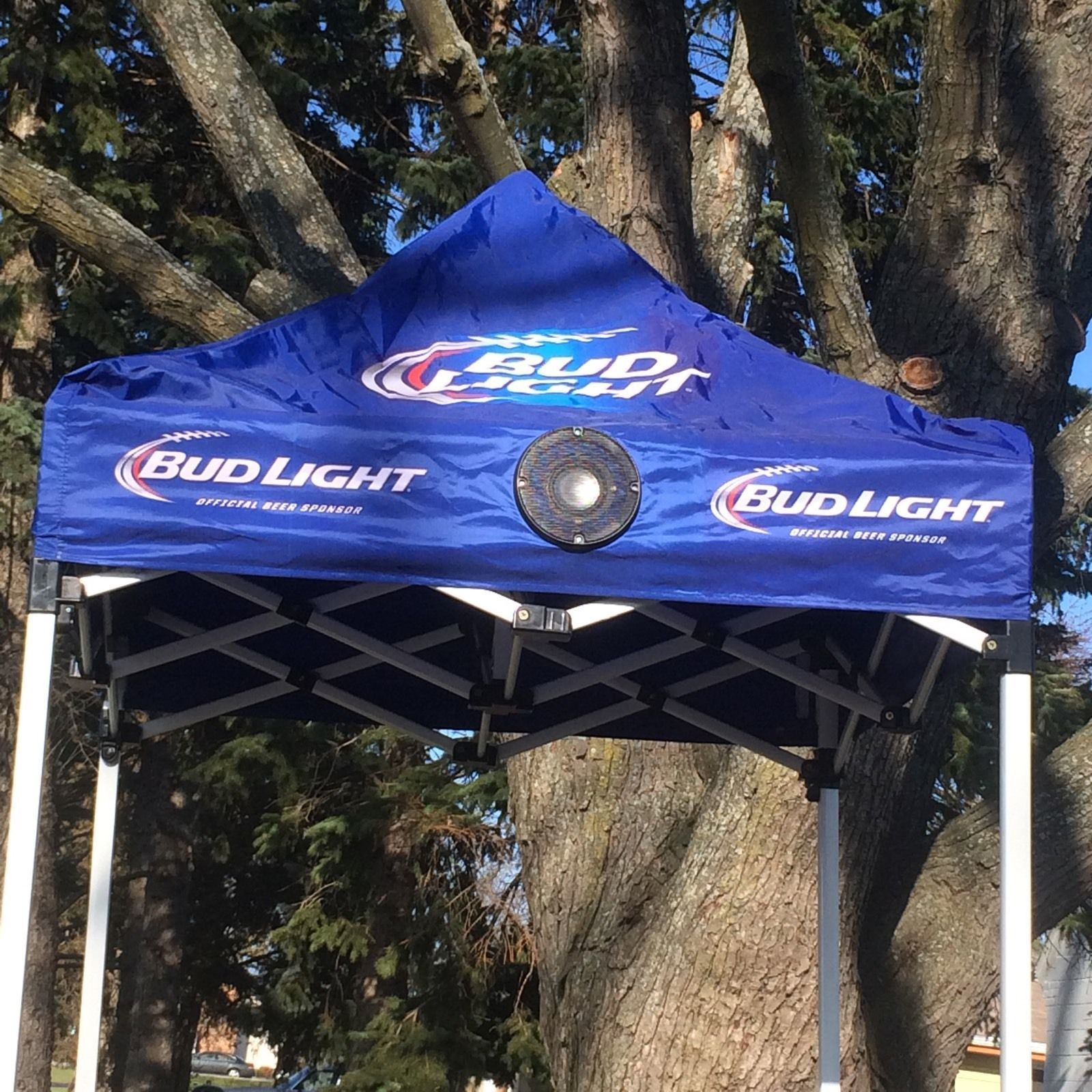 (L@@K) BUD LIGHT BEER NFL Canopy W/Bluetooth Speakers TENT & L@@K) BUD LIGHT BEER NFL Canopy W/Bluetooth Speakers TENT TAILGATE ...