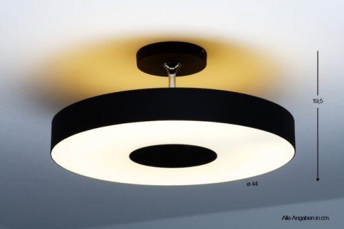 Plafonnier design rondelle lustre moderne lampe à suspension métal verre 33008
