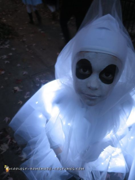 Glowing Ghost Costume for a Child #deguisementfantomeenfant