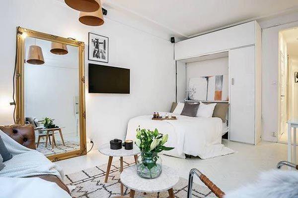 10 ejemplos sobre c mo decorar y amueblar un apartamento - Como decorar un estudio pequeno ...
