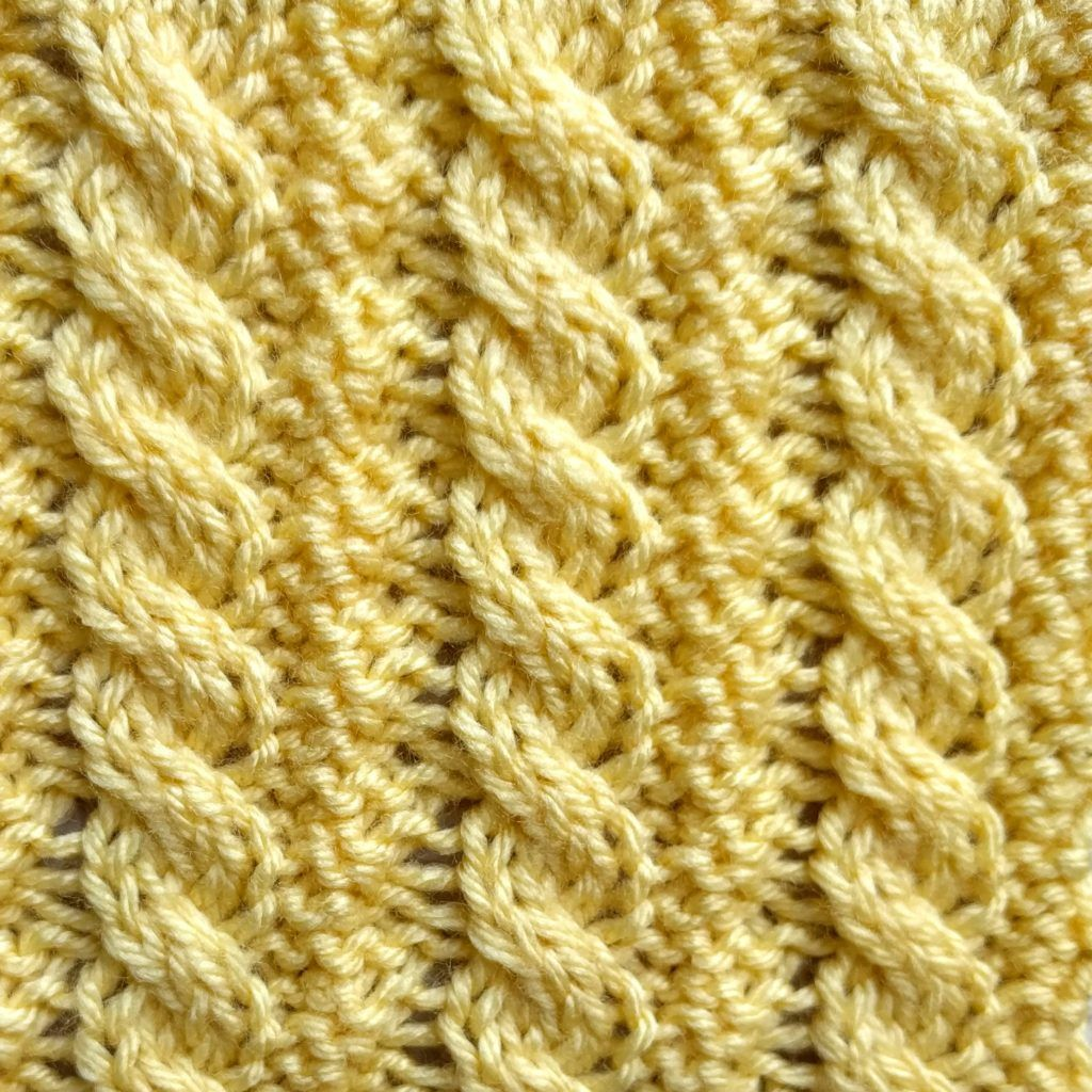 Reversible Stitch - FREE pattern - Little Ropes Stitch RS - Purl ...