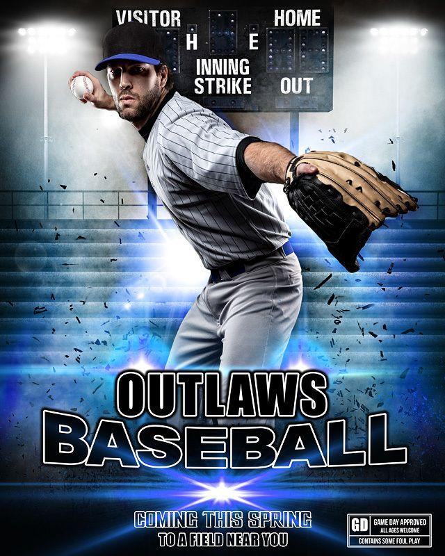 Sports Poster Photo Template Impact Baseball Sport Poster Photo Template Sports Templates