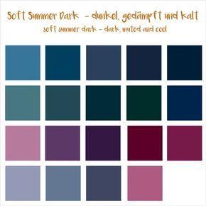 Sommertyp Farbpalette Soft Summer Dark 16 Er Sommertyp