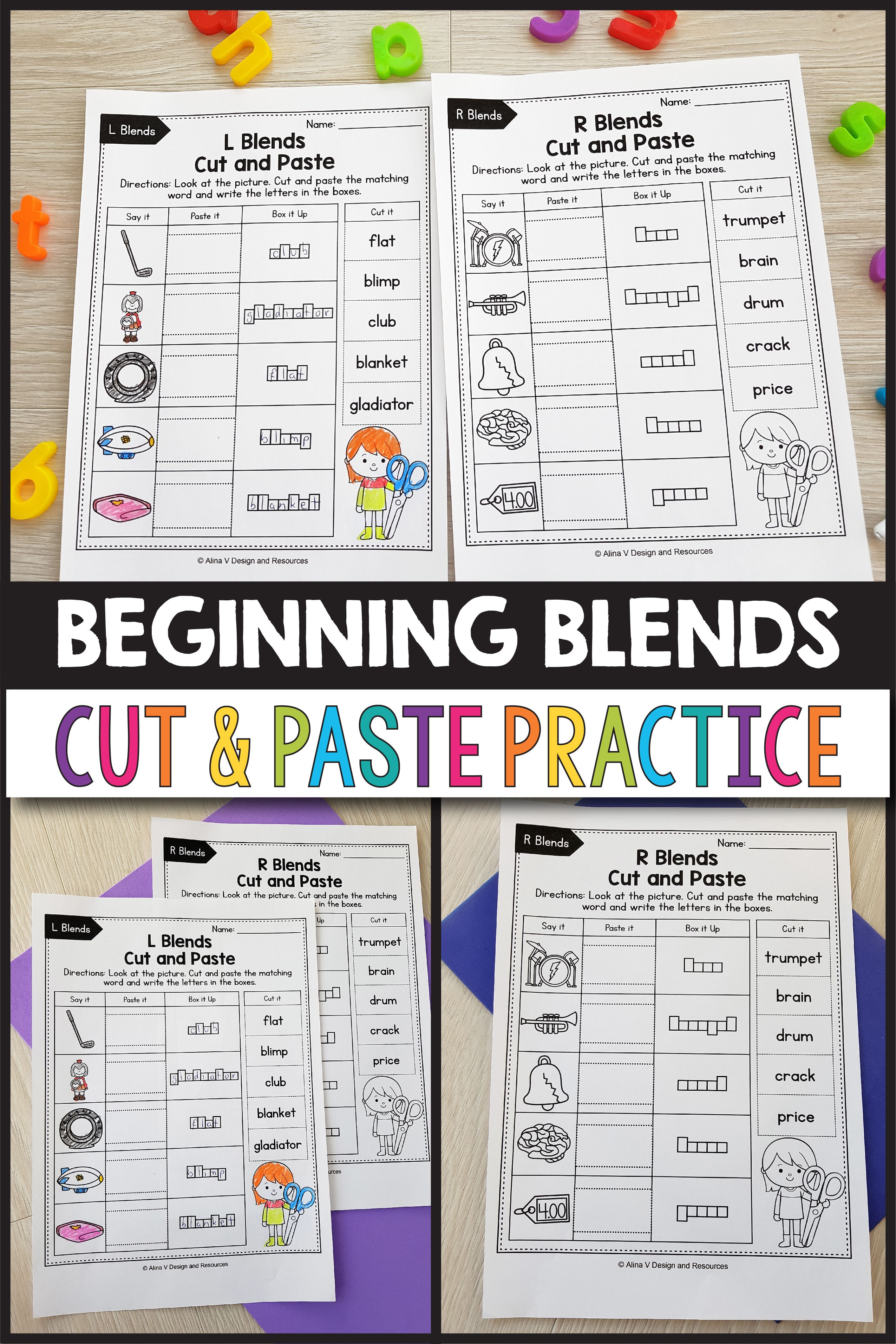 Beginning Blends Say Paste Box It Up Activities These Worksheets For Kindergarten And A Great Phonics Activities Blends Activities Kindergarten Resources [ 3826 x 2551 Pixel ]