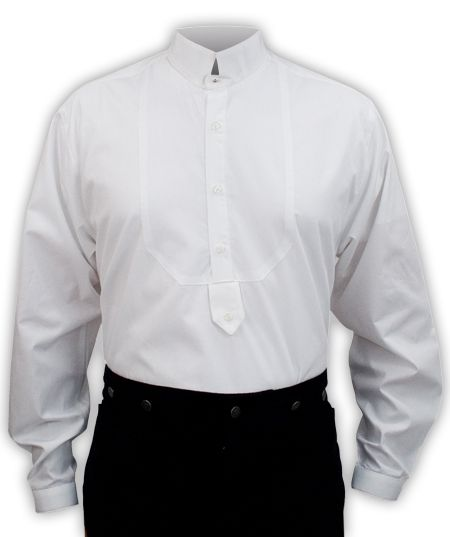 Victorian Mens Dress Shirt - High Stand Collar | Gentleman, Collar ...