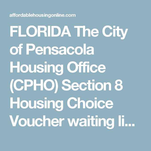 FLORIDA The City of Pensacola Housing Office (CPHO) Section
