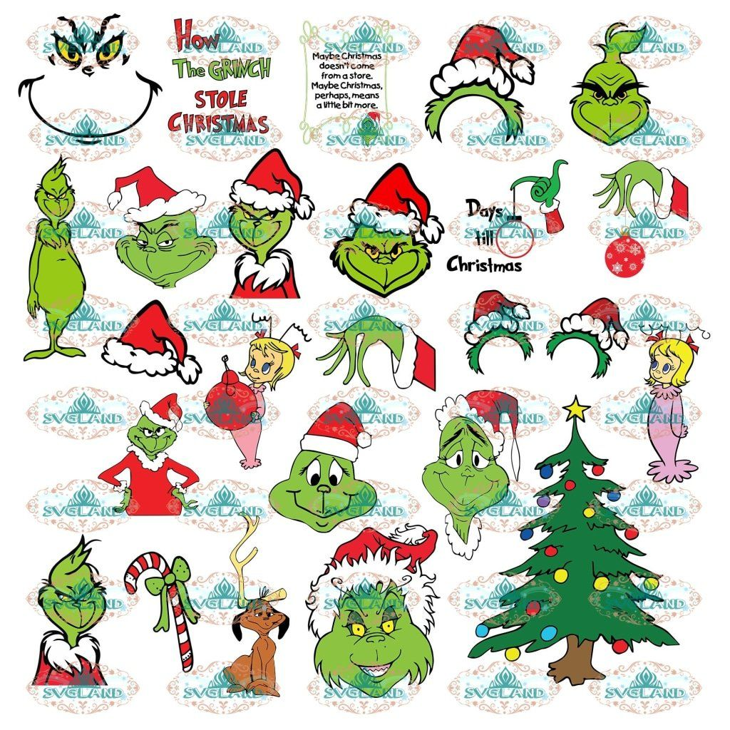 Pin On Grinch With Santa