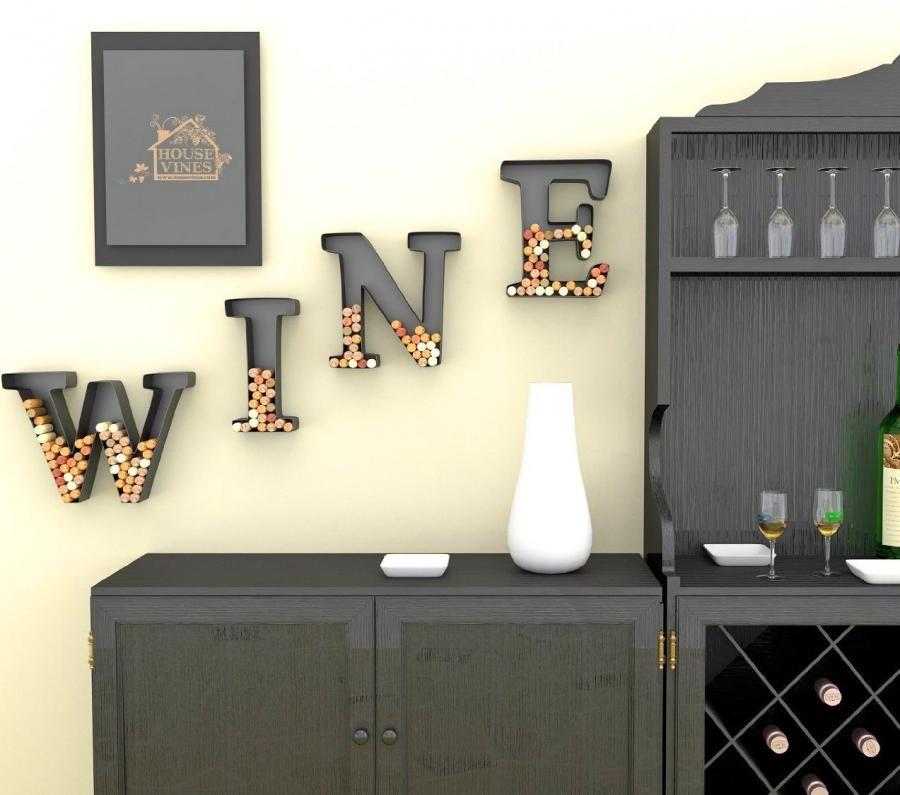 Letter Shaped Wine Cork Holders