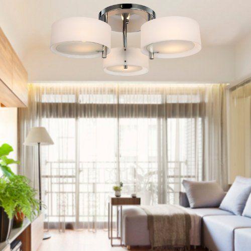 ALFRED Lámpara moderna de estar 3 luces ,Techo luz,montaj   - lamparas de techo modernas