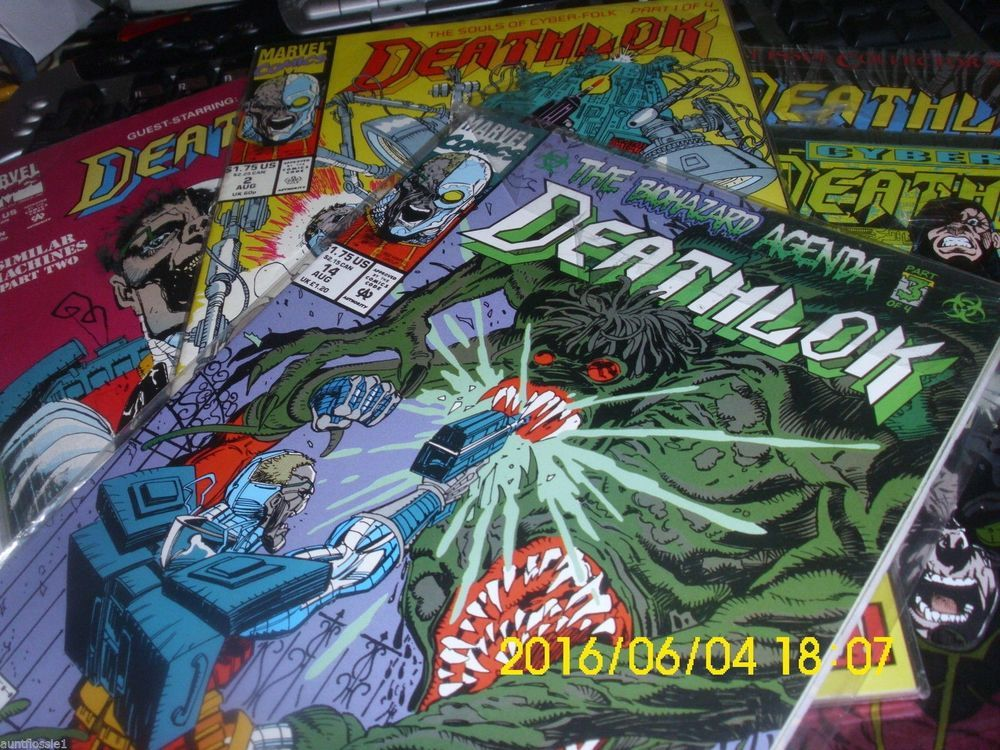"""MARVEL COMICS """"DEATHLOK"""" COLLECTION 1 AUTOGRAPHED 1ST COLLECTOR ISSUE 9 BOOKS"""
