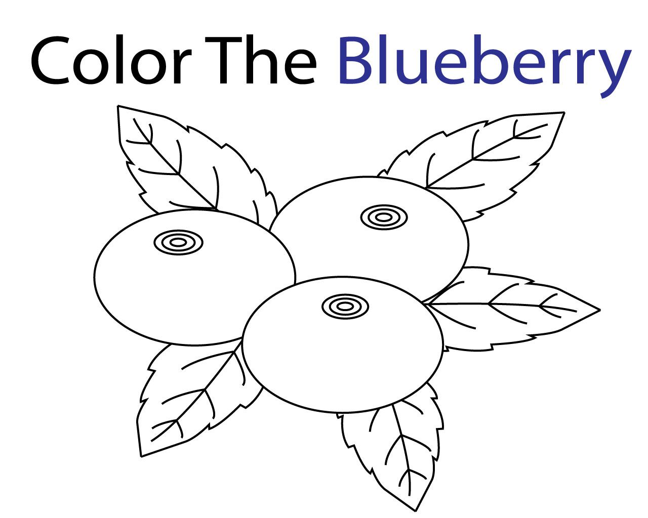 Free Printable Blue Coloring Pages