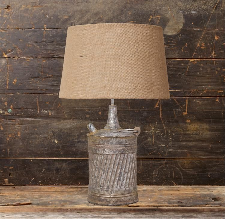New Primitive Country Antique Style Vintage Gas Can Lamp Electric Table Light Country With Images Primitive Decorating Country Country Antiques Gas Cans