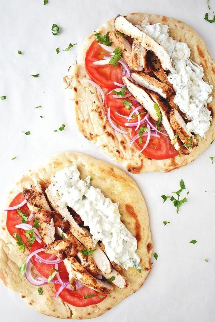 Chicken Gyros Recipe With Tzatziki Sauce - Real Greek Recipes - Sonya&DinnerRecipesChicken
