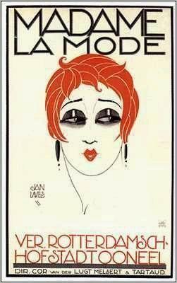 Jan Lavies, Madame La Mode Art Deco poster