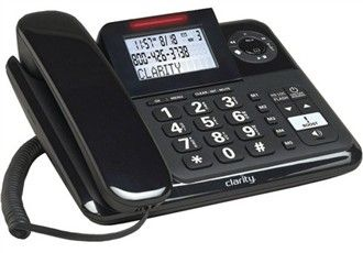 The Clarity E814 Corded Caller Id Telephone Features Amplified Incoming Sound Up To 40 Db Which Improves Conversation By Maki Corded Phone Cordless Phone Phone